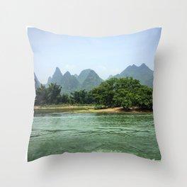 The Sheep & The Mountains Throw Pillow