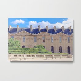 Louve Square, Paris Metal Print