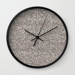 Silver Glitter I Wall Clock