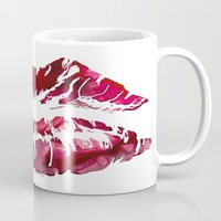 lipstick Mugs featuring Lipstick by D. Renee Wilson