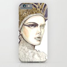 Portrait illustration in golden markers and pencils Slim Case iPhone 6s