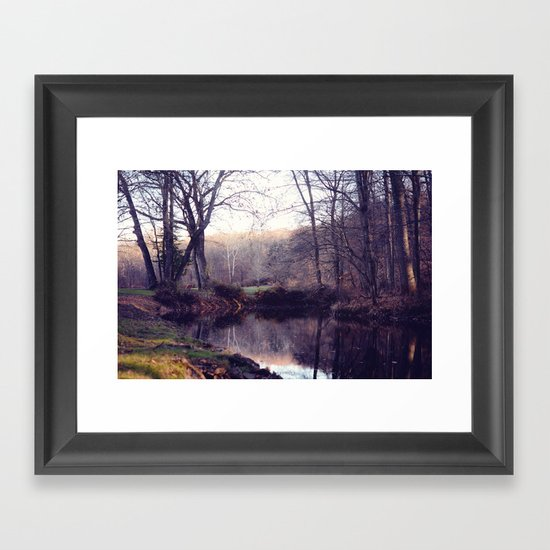 still water Framed Art Print