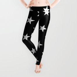 Little Stars (White & Black Pattern) Leggings