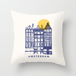 Amsterdam - City Throw Pillow