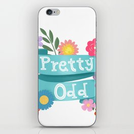 Pretty Odd Floral Banner iPhone Skin