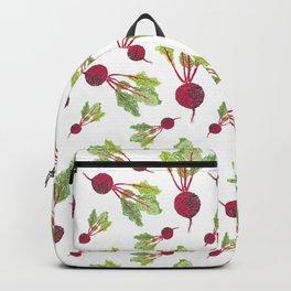 Feel the Beet in Radish White Backpack