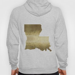 louisiana gold foil state map Hoody