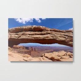 Mesa Arch View Metal Print