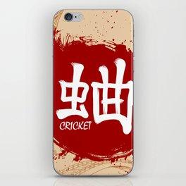 Japanese kanji - Cricket iPhone Skin