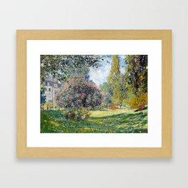 Claude Monet Landscape: The Parc Monceau Framed Art Print
