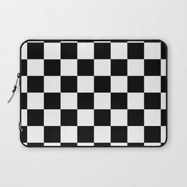 Black White Checker Laptop Sleeve