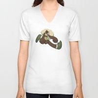 running V-neck T-shirts featuring Running by Leodoglover