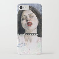 sky ferreira iPhone & iPod Cases featuring Sky Ferreira II by Jethro Lacson