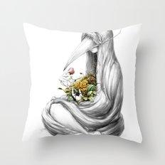 Bowerbird II Throw Pillow