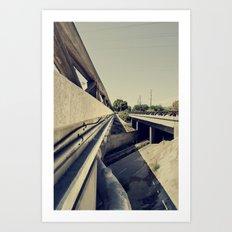 Summer Bridge Art Print
