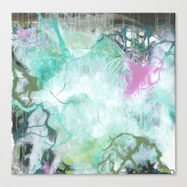 The Queen's Tear - Square Abstract Expressionism Canvas Print