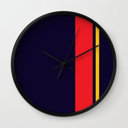 Navy Racer Wall Clock