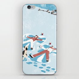 Snow Angels iPhone Skin