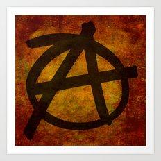 Distressed Anarchy Symbol Art Print