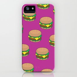 Burger dreams iPhone Case