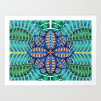 Trippy Flower Design Art Print