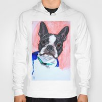 boston terrier Hoodies featuring Boston Terrier by A.M.