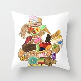 Brooklyn Dessert Map Throw Pillow