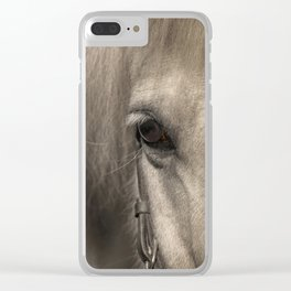 Horse look Clear iPhone Case