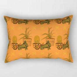 Garden Donkey Rectangular Pillow