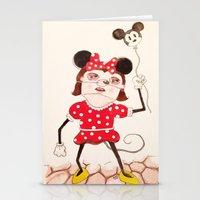 minnie Stationery Cards featuring Minnie  by ZarsStudio