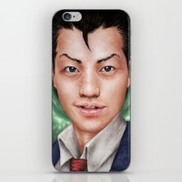 ace attorney iPhone & iPod Skins featuring Ace Attorney by Cat Allen
