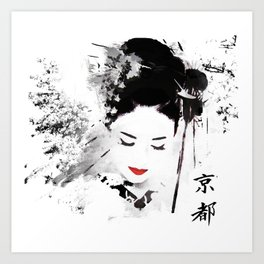 Kyoto Geisha Art Print