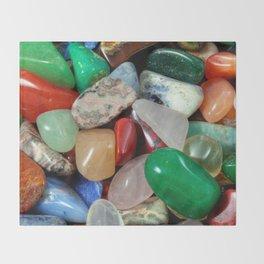 Colorful Stones Texture Throw Blanket
