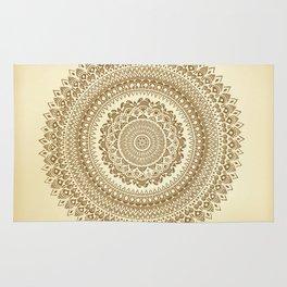 """Henna inspired"" Mandala Illustration Rug"