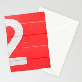 TWO on red Stationery Cards