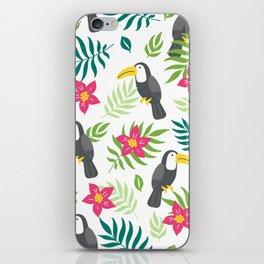 Floral Tropical Tucano iPhone Skin