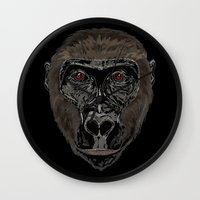 ape Wall Clocks featuring Ape by Mel McIvor