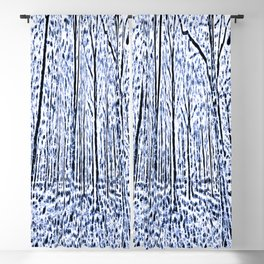 The Blue Forest Abstract Art Blackout Curtain