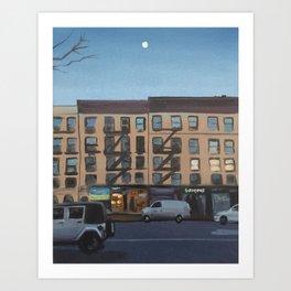 Moon Over 8th Avenue Art Print