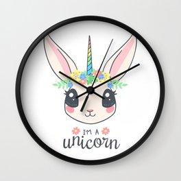 I'm a Unicorn PNG Wall Clock