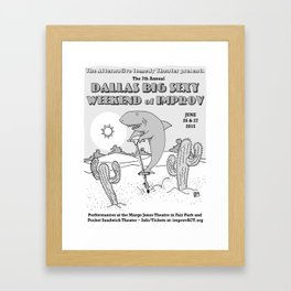 2015 Dallas Big Sexy Weekend of Improv Poster Framed Art Print