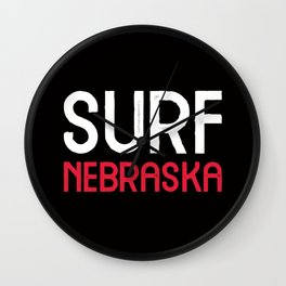 Surf Nebraska Wall Clock
