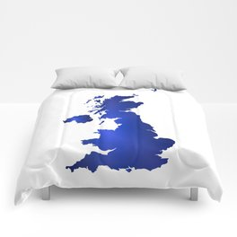 United Kingdom Map silhouette Comforters