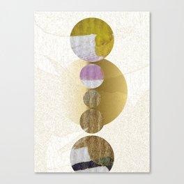Yellow Gold Balanced Galaxy Canvas Print
