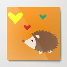 hedgehog orange Metal Print