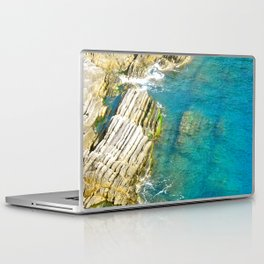 Mediterranean Coast Cinque Terre, Italy Laptop & iPad Skin
