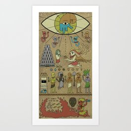 A Most Sacred Tablet Art Print