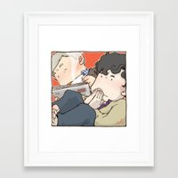 221b Framed Art Prints featuring 221B by Negative Dragon