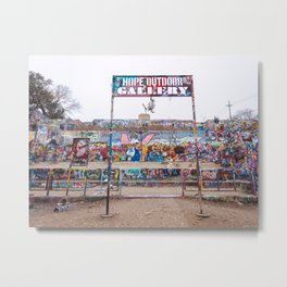 HOPE Outdoor Gallery in Austin Metal Print