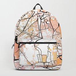 Seoul South Korea Street Map Color Backpack